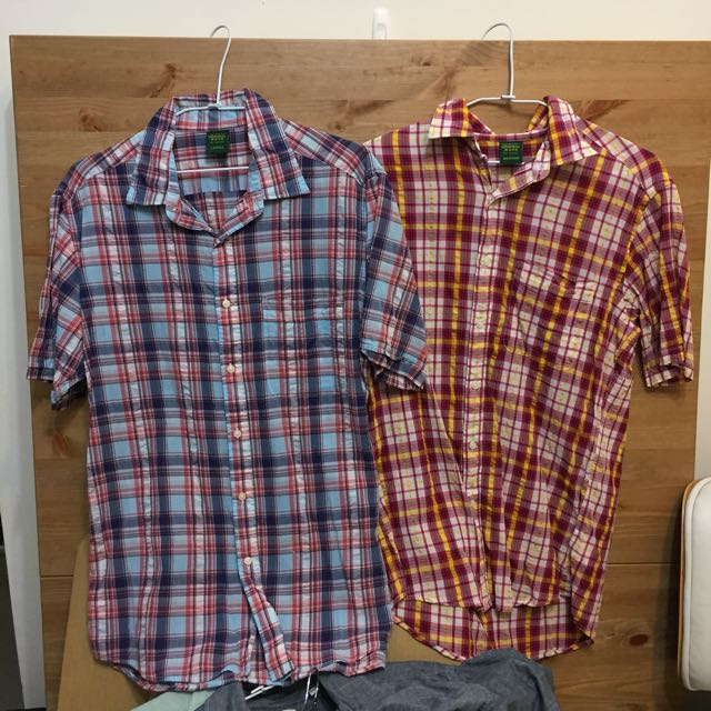 Uniqlo 保存良好~格子襯衫夏天穿蠻涼的~一件80兩件150