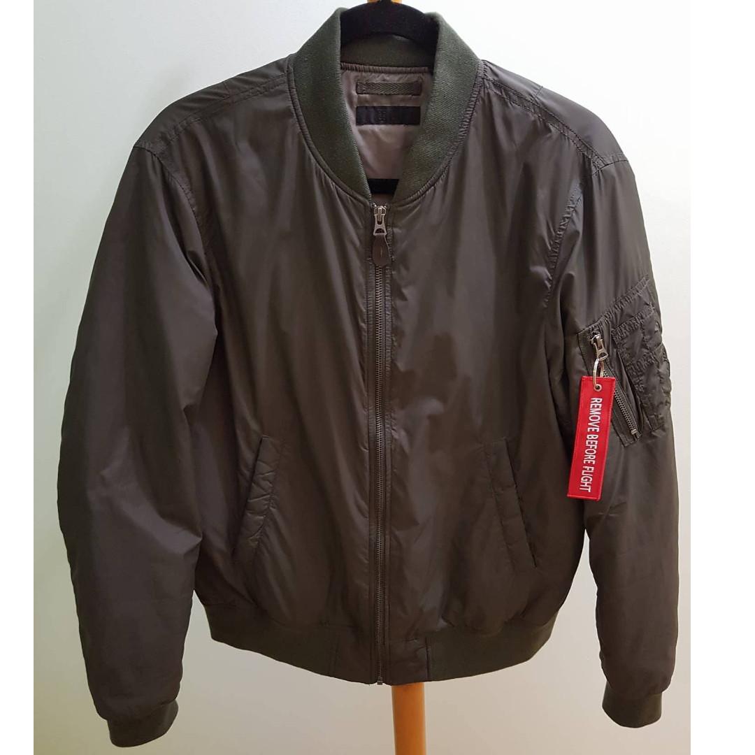 Uniqlo khaki MA1 Bomber Jacket