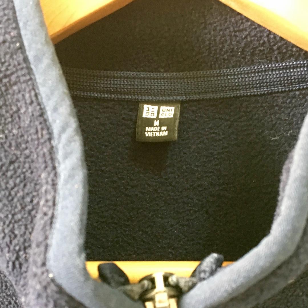 UNIQLO MEN Fleece Full-Zip Long Sleeve Jacket, size M