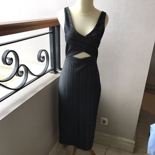 Long Sexy Black Dress (Urban Outfitters)