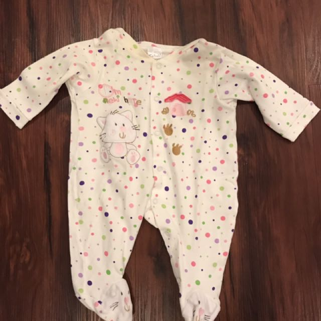 Used baby girl pyjamas
