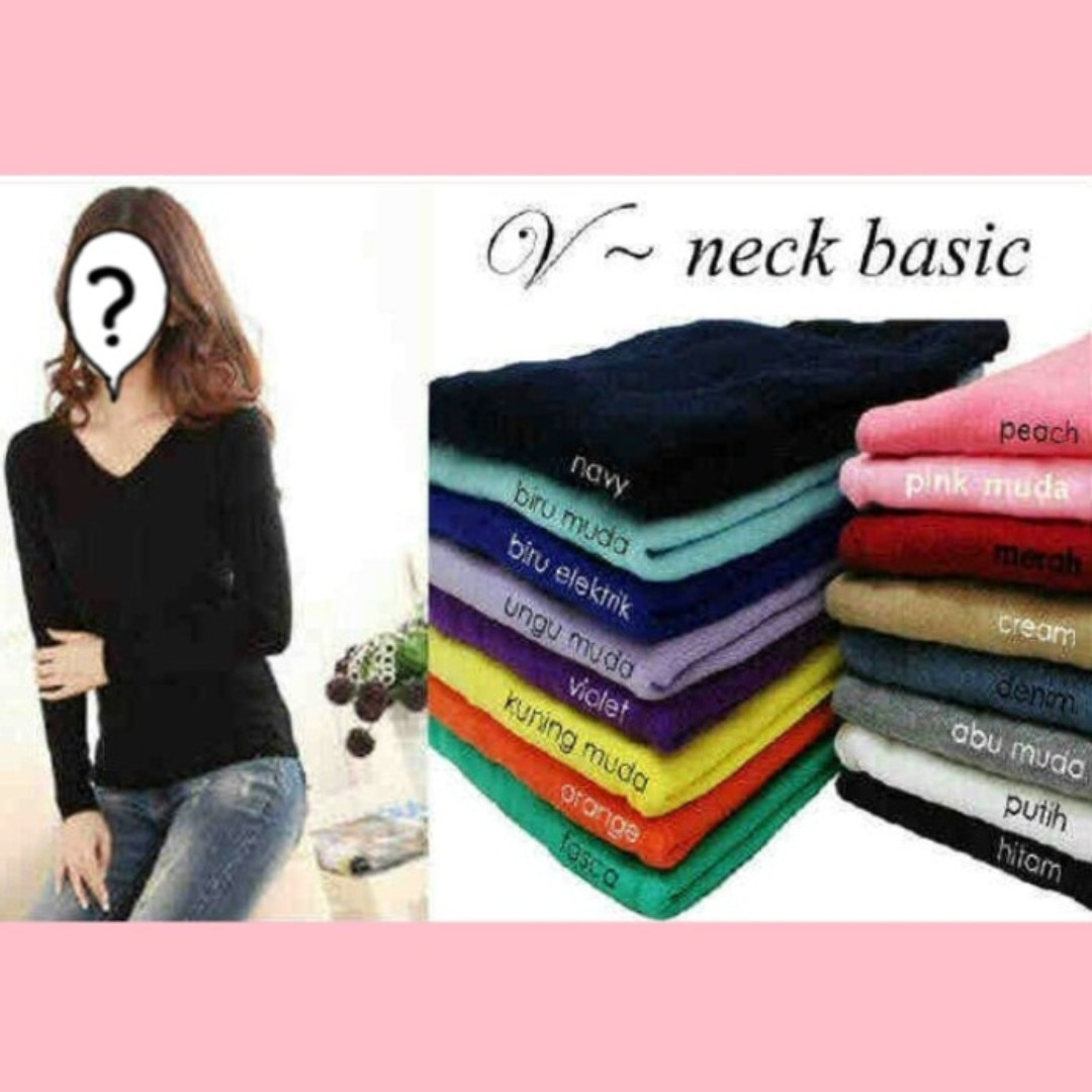 V NECK BASIC KNIT