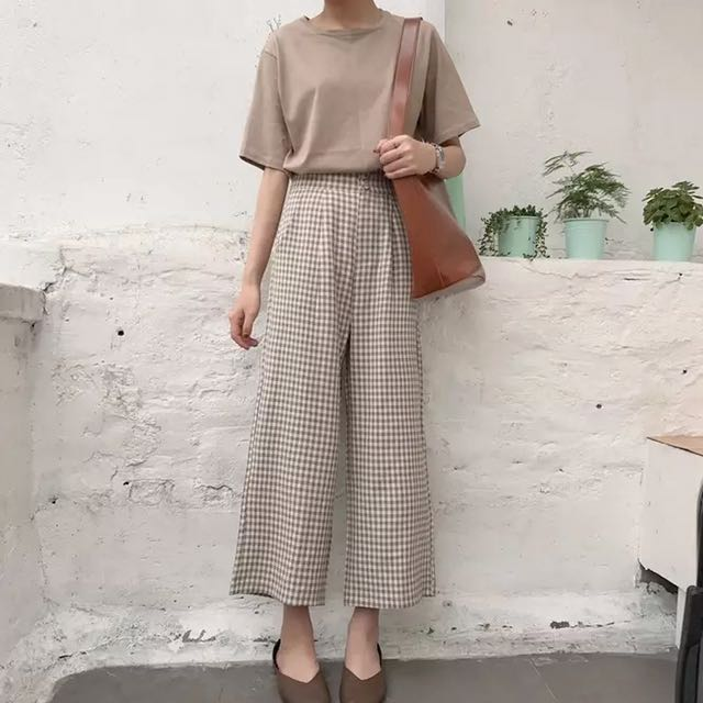 Vintage Checkered Culottes