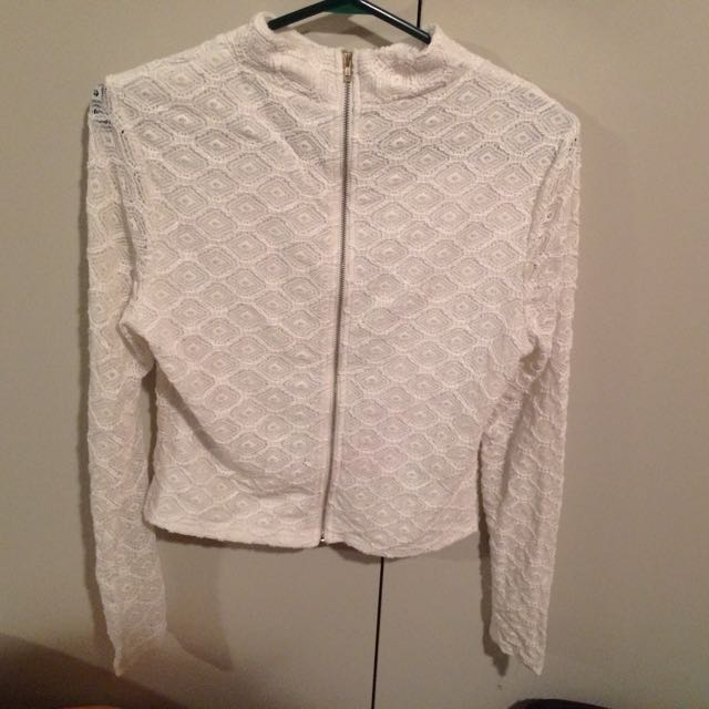 White Lace Jumper