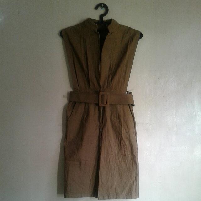 Yellowbrown Bodycon Dress