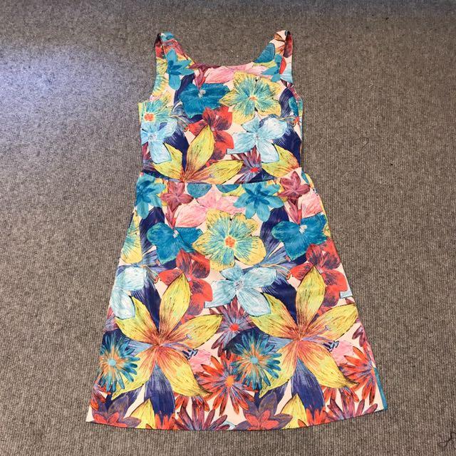 Zara Printed Work Dress