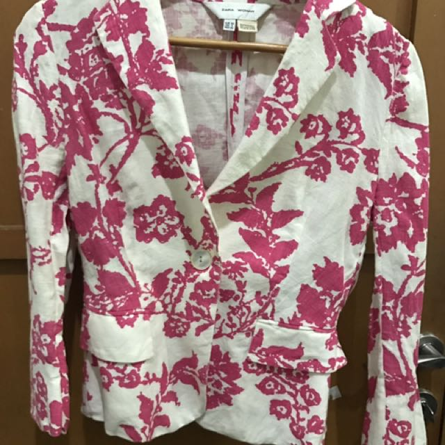 Zara Woman blazer Pink Flower