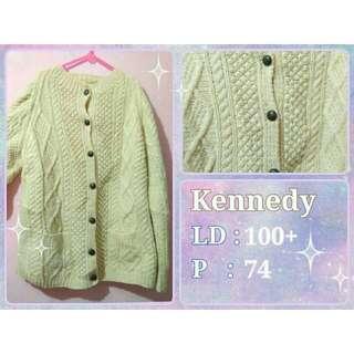 Sweater Rajut Tebal Kardigan Hand Knit Vintage Mori