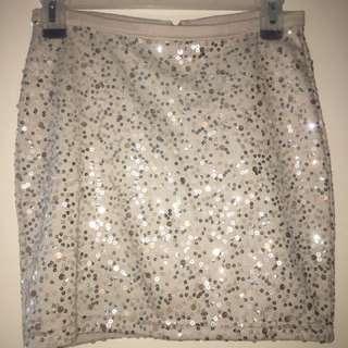 H&M Sequinned Bodycon Skirt