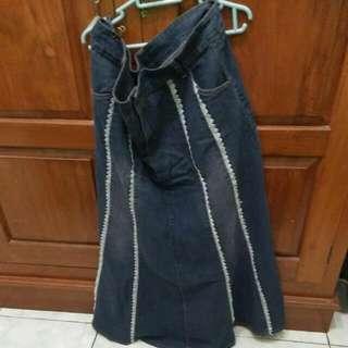 Rok Panjang Jeans Bigsize