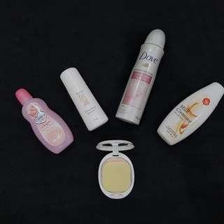 DOVE deodorant + SCION roll On + PIGEON Compact Powder