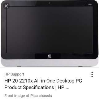 Hp 20 Like New All In One Desktop