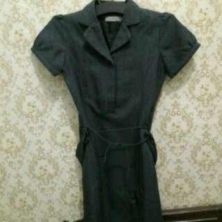 "Dress Kerja Abu"""