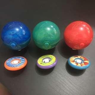 麥當勞 寵物小精靈 DPPt御三家陀螺玩具