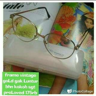 Kacamata Gold Vintage