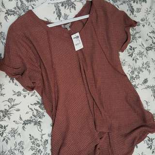 Burgundy Loose Lounge Top