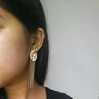 Gold Statement Chandelier Earrings