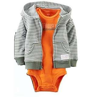 Carter's Baby Boys' 2-Piece Hooded Set