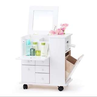 Preorder . 4 In 1 Moible Dressing Table With Drawers , Trash Bin And Tissue Box ... Closet