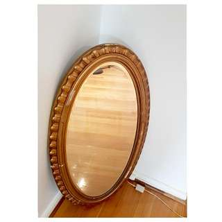 Vintage Oval Gold Mirror.