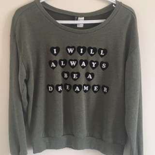 H&M- I Will Always Be A Dreamer Sweater