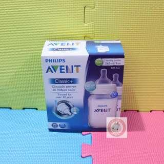 [特價][現貨][全新] 英國製造 全新 飛利浦 AVENT CLASSIC+系列 9安士初生嬰兒奶樽2個裝 PHILIPS AVENT CLASSIC+ 2 FEEDING BOTTLES BOX SET