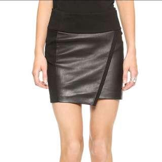 BNWT PU Leather Asymmetric Skirt
