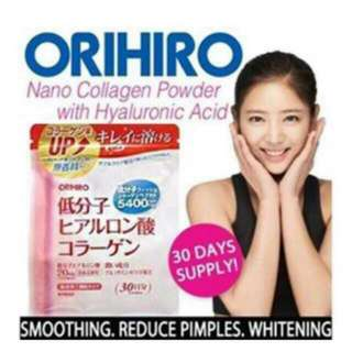 Orihiro Nano Collagen Hyaluronic Acid 30-Day