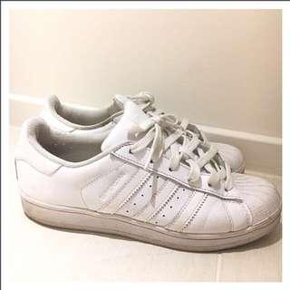 Adidas Superstar All White US5