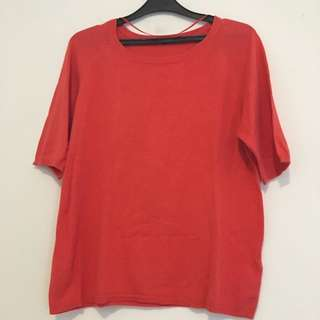 Zara Red Knit Top