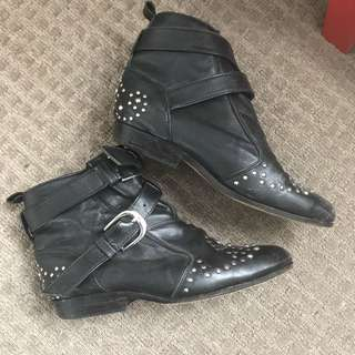 State Of Georgia Flat Studded Boots Size 39