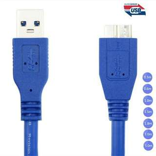 USB 3.0 A Male AM to Micro B USB 3.0 Micro B Male USB3.0 Cable (5 metres) Specially Designed For Professional Photographer Who Shoot Tethered to Computer (For Canon Pro And Nikon Pro Series)