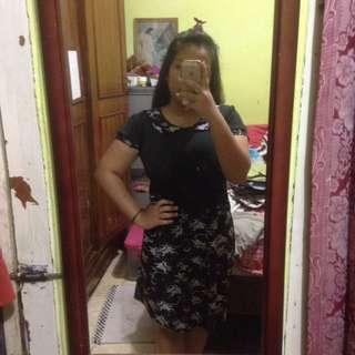 Peterpan Collar Black Dress