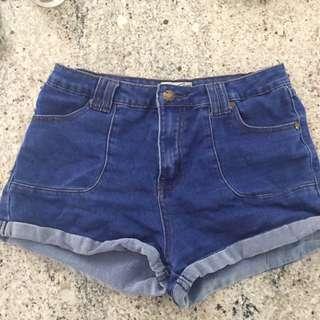 comfy denim shorts