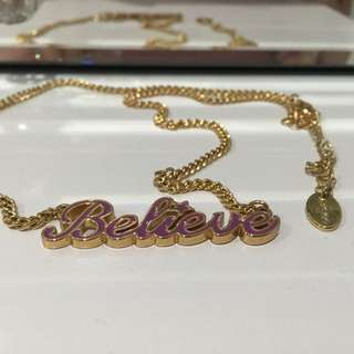 Disney Couture Believe Gold Plated Necklace