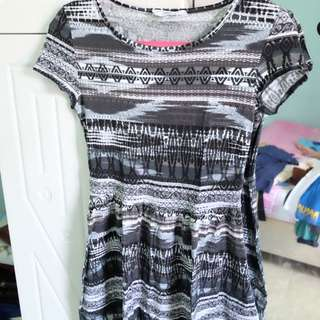 New Look Tribal Mini Dress Size 10/ S