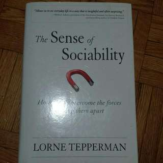 The Sense Of Sociability By Lorne Tepperman (Uoft Sociology Course)