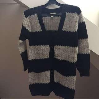 Forever 21 Stripe Knit Cardi