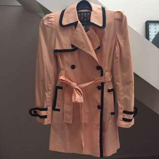 Forever 21 Peach Trench Coat