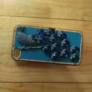 Blue Bird Bling Case iPhone 4/4s Case