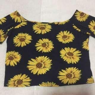 Summer Crop Top (sunflower)