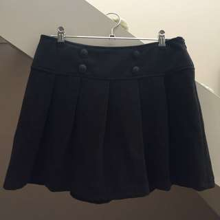Dotti Charcoal Grey Pleated Skirt