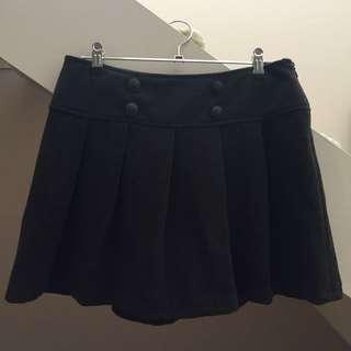 Dotti Charcoal Grey Pleated Skirt