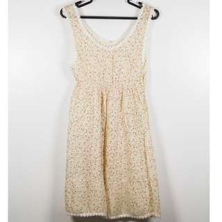REPRICED Cream Boho Sundress
