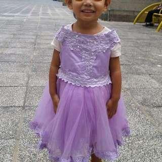 紫色公主裙