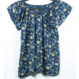 REPRICED 2-Way Dark Blue Blouse