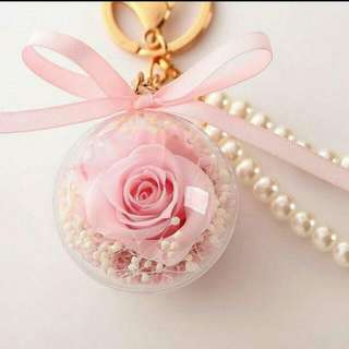 Christmas Gift [Handmade] Preserved Fresh Flower Fashion Key Pendant