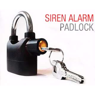 Alarm Pad Lock For Door Gate Motorcyle & Bicycle