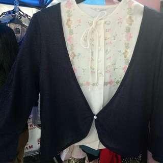 Baju Lengan Pendek Plus Cardigan