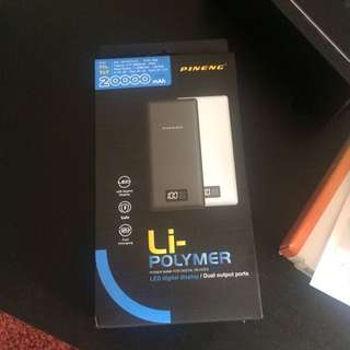 (FREE POUCH) Original PINENG Power Bank PN-969 20000mAh PN 969 New Design Powerbank